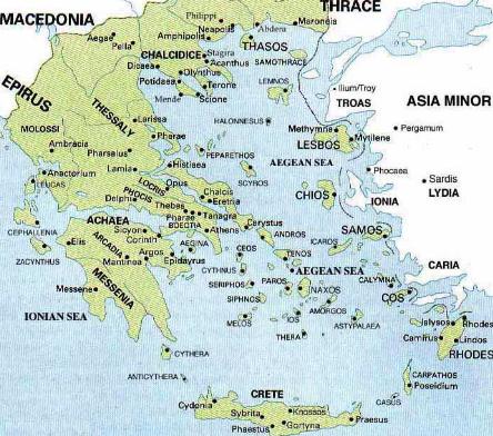 Transfer Destinations In Greece   Destinations in Greece - Minibus Athens